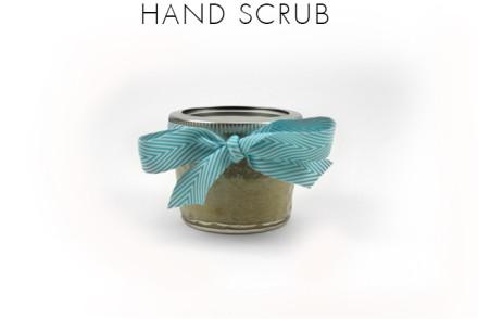 DIY hand scrub